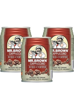 Mr.Brown Cappuccino İced Coffee 3 x 240Ml