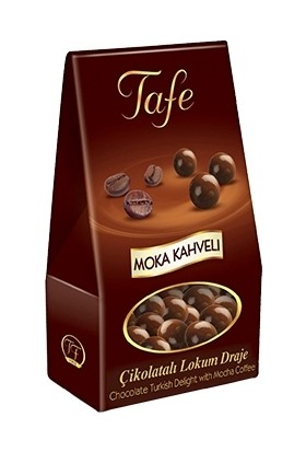 Tafe Moka Kahveli Çikolatalı Lokum Draje Dik Kutu 2 Adet x 60 gr