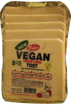 Trakya Çiftliği Vegan Cheddar Tadında Tost Peynir 2 Adet x 100 gr