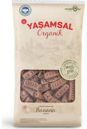 Yaşamsal Organik Banana Tam Buğday Organik Makarna 500 gr