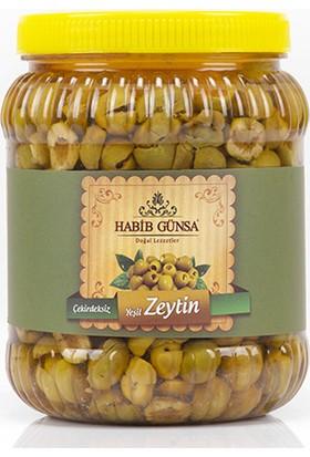 Habib Günsa Halhalı Yeşil Zeytin (Çekirdeksiz) El Ayıklama 1 kg