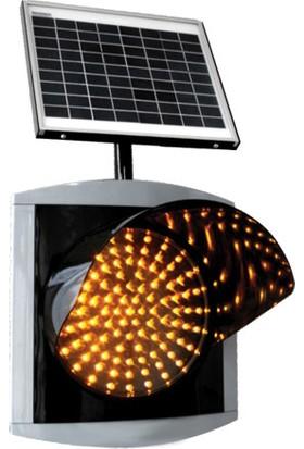 İleritrafik 300mm LEDli Güneş Enerjili Flaşör 360x360 mm Gri,Siyah