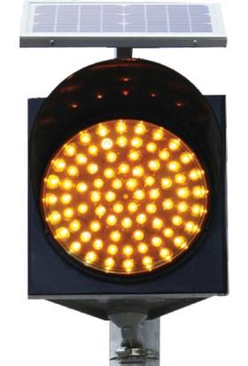 İleritrafik 300mm LEDli Güneş Enerjili Flaşör 360x360 mm Siyah Standard
