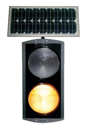İleritrafik 300mm İkili Güneş Enerjili Flaşör 360x360 mm Gri, Siyah