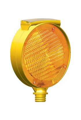 İleritrafik Solar Yuvarlak Çift Taraflı Flaşör (Sarı)