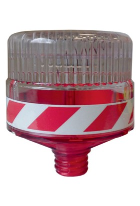 İleritrafik Solar Flaşörlü Uyarı Lambası (Kırmızı)