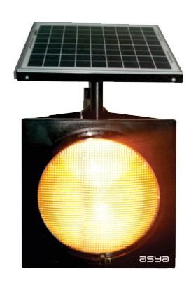 İleritrafik 300mm Power Ledli Güneş Enerjili Flaşör Siyah Standart