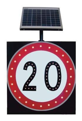 İleritrafik Güneş Enerjili Azami Hız Sınırlaması Levhası (600x600x80 mm)