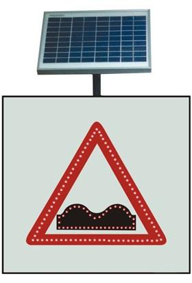 İleritrafik Güneş Enerjili Kasisli Yol Levhası 600x600 mm