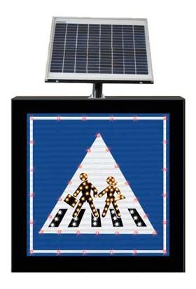 İleritrafik Güneş Enerjili Okul Geçidi Levhası B14b 650x650x100 mm