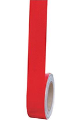 İleritrafik Kırmızı Reflektif Bant Mikroprizmatik 5 cm x 30 mt