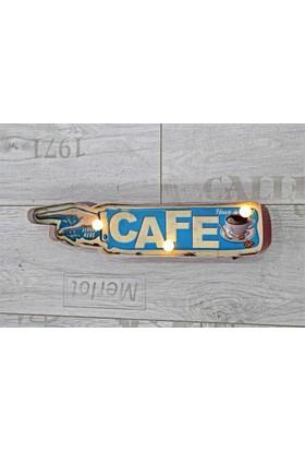 Gp Cafe Ledli Duvar Dekoratif Tablo