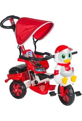 Baby Poufi Penguen Ebeveyn Kontrollü Bisiklet Kırmızı