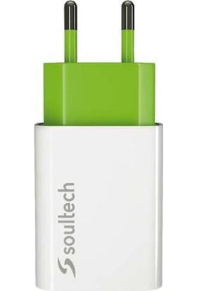 Soultech 1.1 A Ev Şarj Adaptörü & Micro USB Data Şarj Kablosu
