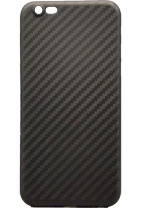 AntDesign iPhone 7 / 8 Karbon Desen Ultra İnce Kılıf Siyah