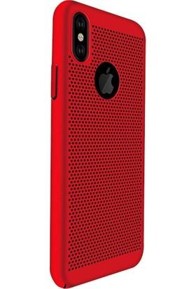 AntDesign iPhone X Cooling Hole File Kılıf Kırmızı