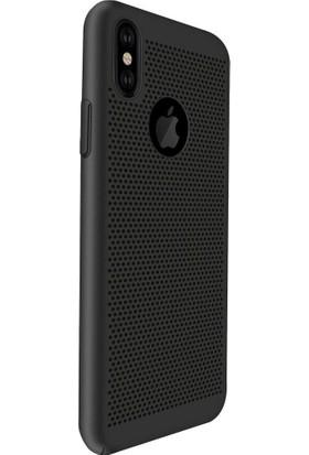 AntDesign iPhone X Cooling Hole File Kılıf Siyah