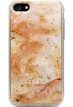 AntDesign iPhone 7 / iPhone 8 Simli Silikon Kılıf Turuncu