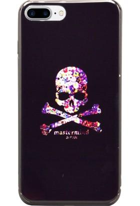 AntDesign iPhone 7 Plus / 8 Plus Cam Baskı Desenli Kılıf Skull