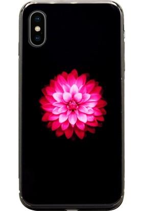 AntDesign iPhone X Cam Baskı Desenli Kılıf Flower