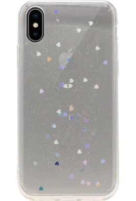 AntDesign iPhone X Simli Silikon Kılıf Şeffaf