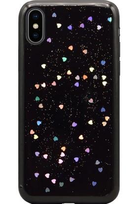 AntDesign iPhone X Simli Silikon Kılıf Siyah