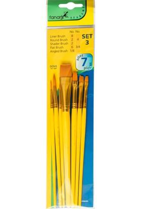 Fanart Fırça Seti Dove 3 Sarı Sap 7Li F-71500.903