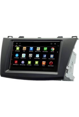 Mixtech 3 Android Navigasyon ve Multimedya Sistemi 7 İnç Double Teyp