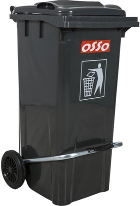 Osso Ç120 Litre Pedallı Çöp Konteyneri