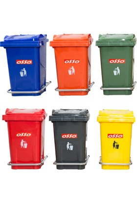 Osso Ç50 Litre Pedallı Çöp Kovası