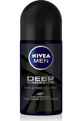 Nivea Men Deep Dımensıon Roll-On Deodorant Erkek 50Ml