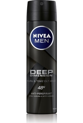 Nivea Men Deep Dımensıon Sprey Deodorant Erkek 150Ml