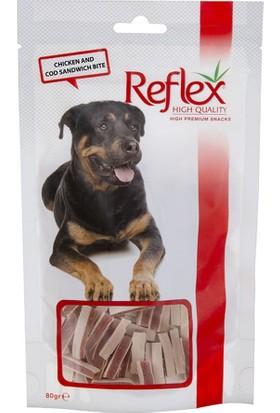 Reflex Chicken-Cod Sandwich Tavuk ve Morina Balıklı Doğal Köpek Ödülü 80 gr
