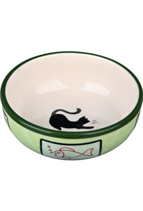 Trixie Kedi Porselen Mama Su Kabı 0,35Lt12,5Cm