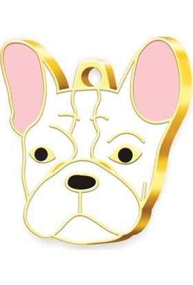Pet Tag 24 Ayar Altın Kaplama French Bulldog Köpek Künyesi