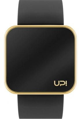 Up! Watch Touch Shiny Gold&Black Unisex Kol Saati