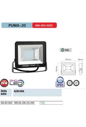 Horoz Puma-20 20 Watt Yeşil Işık Renk Green Smd Led Projektör 20W Ip65