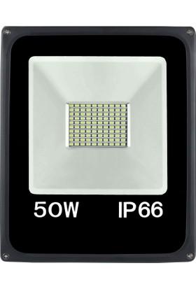Sesay Led Aydınlatma 50 Watt Slim Led Projektör Beyaz Işık
