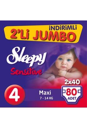 Sleepy Pepee 2'li Jumbo Maxi 4 Beden 80 Adet 7 - 14 kg