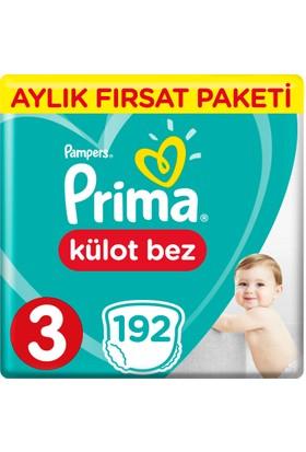 Prima Pants Külot Bebek Bezi 3 Beden Midi Aylık Fırsat Paketi 192 Adet
