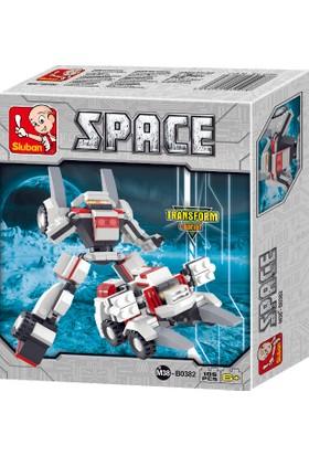 Sluban SPACE Dönüşen Robot Machairodus