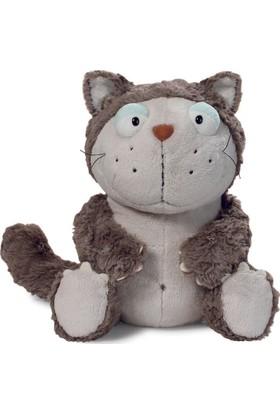 Nici Pelüş Gri Tembel Kedi 15 cm