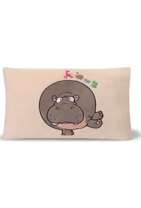 Nici Pelüş Dikdörtgen Yastık Hippo 43 x 25 cm