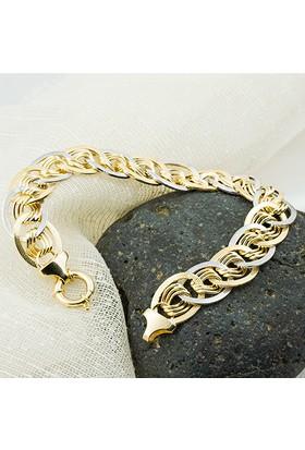 Favori Gold Taşsız 14 Ayar Altın Bileklik Sht583Bl-9