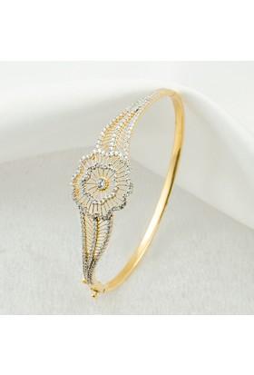 Label Jewelry Papatya 14 Ayar Altın Kelepçe Bilezik