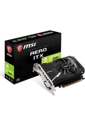 MSI NVIDIA GeForce GT 1030 Aero ITX 2GB 64 bit DDR4 DX(12) PCI-E 3.0 Ekran Kartı