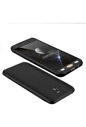 Case 4U Samsung Galaxy J7 Pro 360 Derece Korumalı Tam Kapatan Koruyucu Kılıf - Siyah