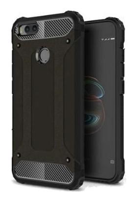 Case 4U Xiaomi Mi A1 - 5X Kılıf Çift Katmanlı Zırh Koruma Tank Arka Kapak - Siyah