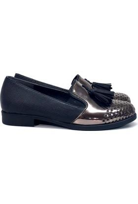 Elexus 5501 Siyah Bayan Günlük Babet Ayakkabı