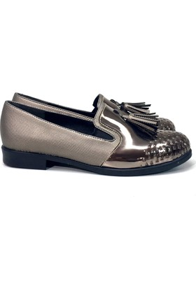 Elexus 5501 Platin Bayan Günlük Babet Ayakkabı